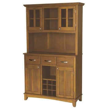Large Wood Buffet with Two Door Hutch