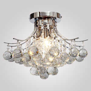 Chrome Finish Crystal Chandelier