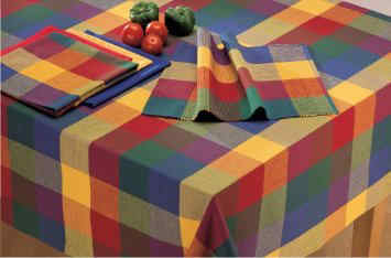 Palette Check Indian Summer Tablecloth